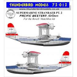 72-012 Thunderbird Models 1:72 Pacific Western Airlines Supermarine  Stranraer decals